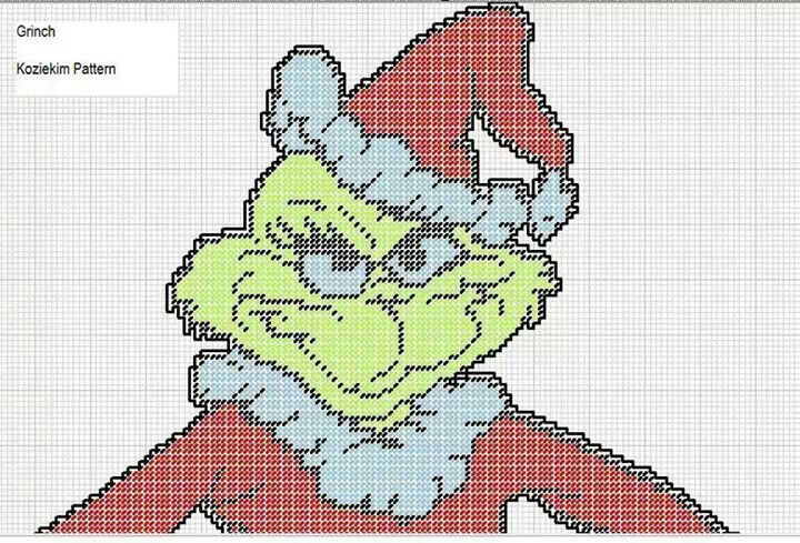 The Grinch who stole Christmas Plastic Canvas 1/5