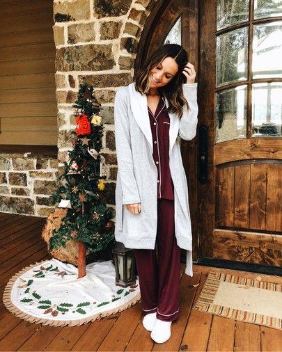 cozy pj's and fuzzy robe