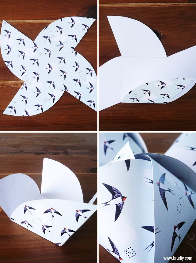 DIY Swallow Gift Box Tutorial with FREE Printable - BruDiy