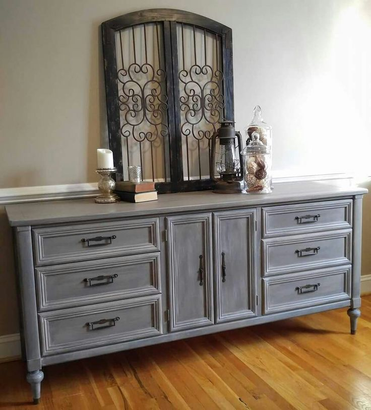 Annie Sloan Restoration Hardware look...Coco, French Line, Graphite & Old White.