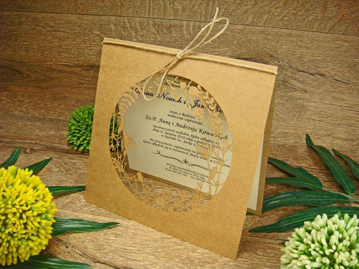 zaproszenia ślubne eko z kolekcji Lato wzór  65 |   Zaproszenia ślubne laserowe, kartki 3D