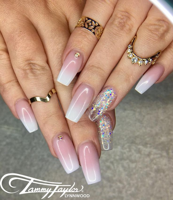 French Ombre Sculpture Nails