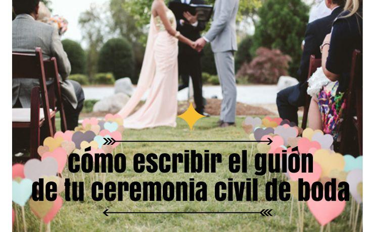 Cómo escribir el guión de tu ceremonia de boda