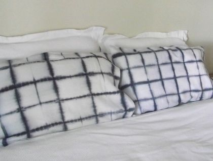 Two linen pillowcases in eggplant