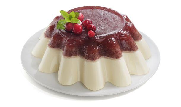 Gelatina de arándano yoghurt