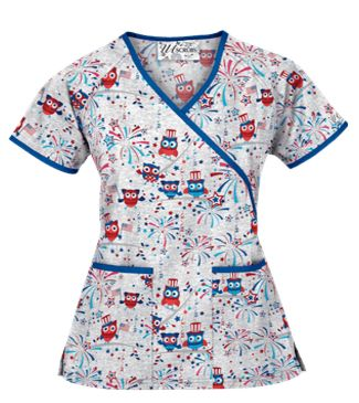 4th of july scrub tops
