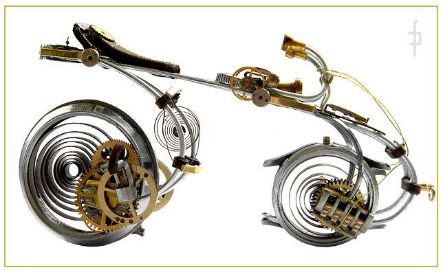 Watch steampunk bicycle. Price 580zł folaron@konto.pl