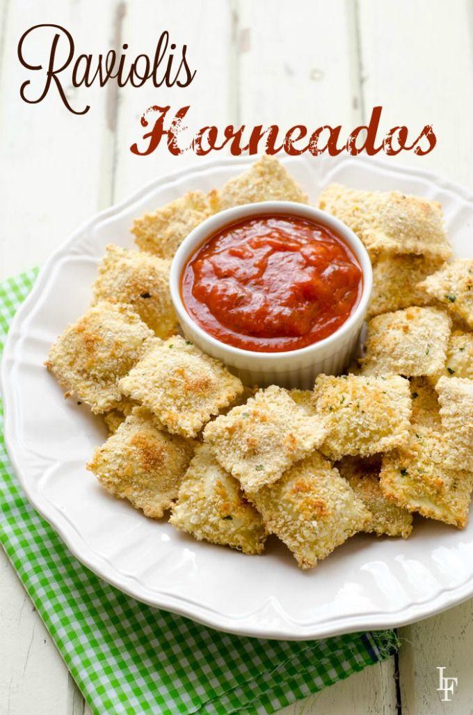 Estos Raviolis Horneados son perfectos para una cena divertida y casera!