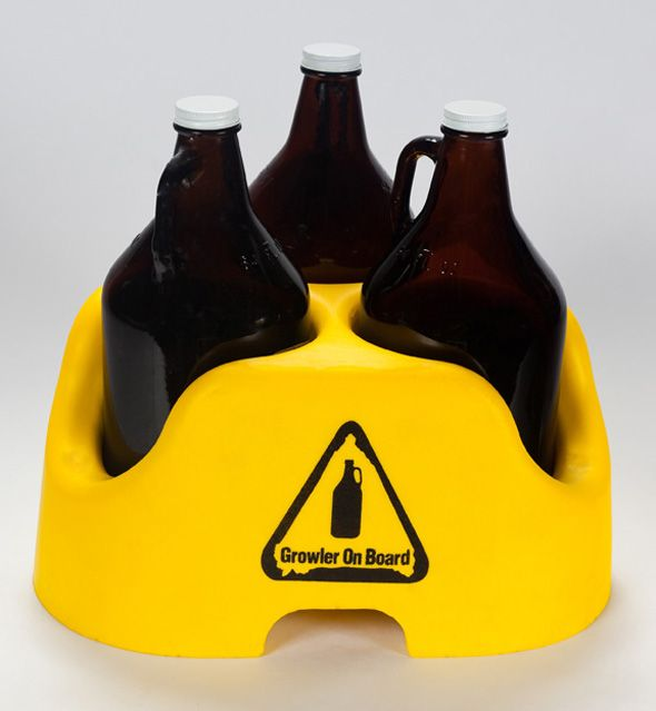 "Car seat for growlers www.LiquorList.com ""The Marketplace for Adults with Taste!"" @LiquorListcom   #LiquorList.com"