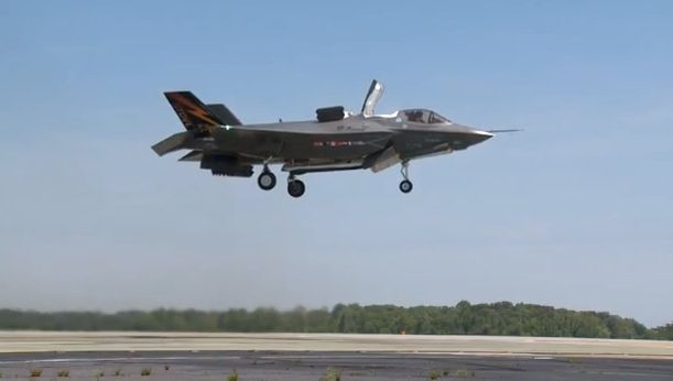 F-35b vertical takeoff and landing
