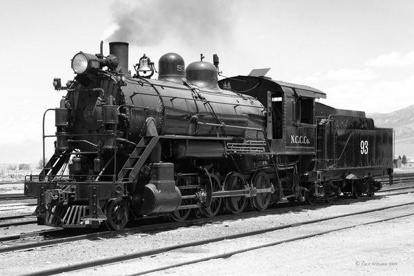 Locomotiva a vapor em Ely/Nevada/EUA, construída em 1909.  Autoria de Sandro Marcos.