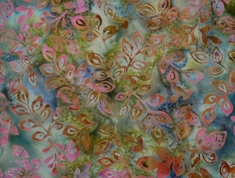 """Hoffman Batiks February Bali Handpaints Leafy Pattern Light Blue Background, 100% Cotton, 42"""" wide, Price/metre Item #: 2438-587 February Order now! www.quiltcountry.ca"""