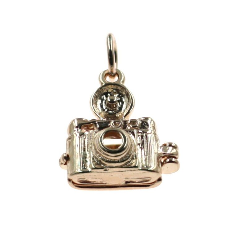 Buy our Australian made Camera Charm - cha-2086 online. Explore our range of custom made chain jewellery, rings, pendants, earrings and charms.