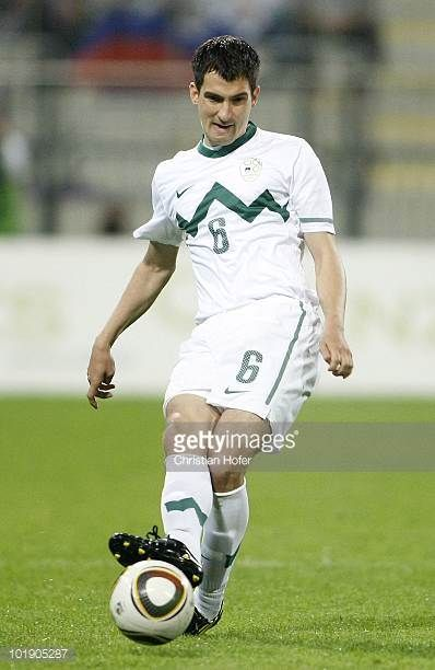 Branko Ilic of Slovenia in action during the International Friendly match between Slovenia and New Zealand at the Stadion Ljudski vrt on June 4 2010...