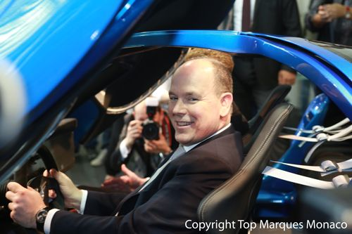 Global launch: The Toroidion 1MW Concept car and our revolutionary powertrain were launched on 16 April 2015 at Top Marques Monaco by H.S.H Prince Albert II of Monaco.
