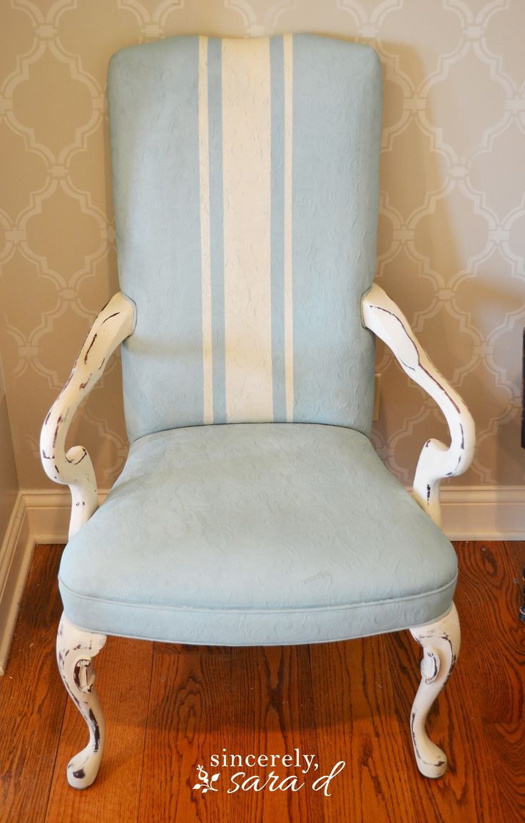Painted fabric chairs - Paint A Fabric Chair