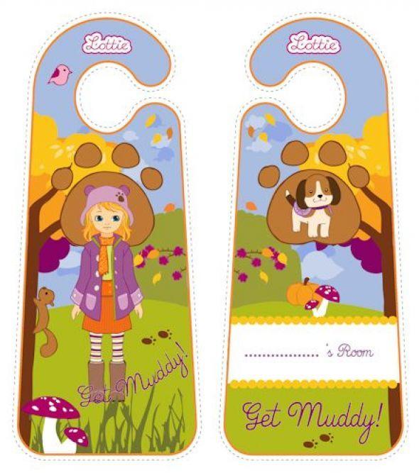 Autumn Leaves Lottie printable door hangers