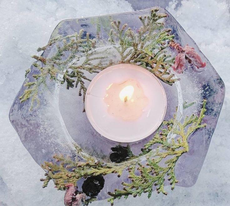 Tél, mínuszok, fagyasztott gyertyatartók....Winter, minuses, frozen candle holders ....