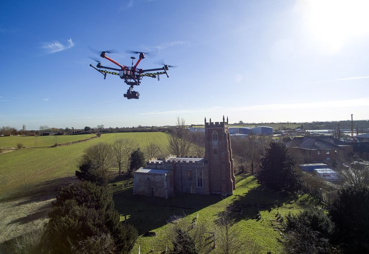 Drone Photos - The Cloisters, Sudbury, Suffolk