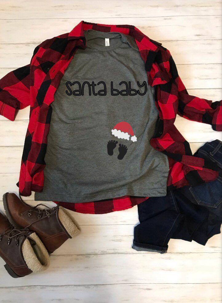 Santa Baby, lieber Weihnachtsmann, ich kann erklären, lustige Baby Ankündigung Shirt, Baby offenbaren, Weihnachten Shirt, Mama Shirt zu sein – kids