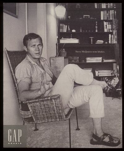 Stylish still. Vintage gap ad with Steve McQueen