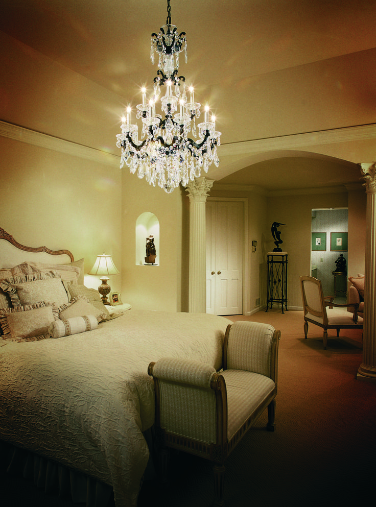 Make a grand statement with chandeliers in the bedroom bellacor modern bathroom lightingbathroom lighting fixturesunique lightinglighting ideasin