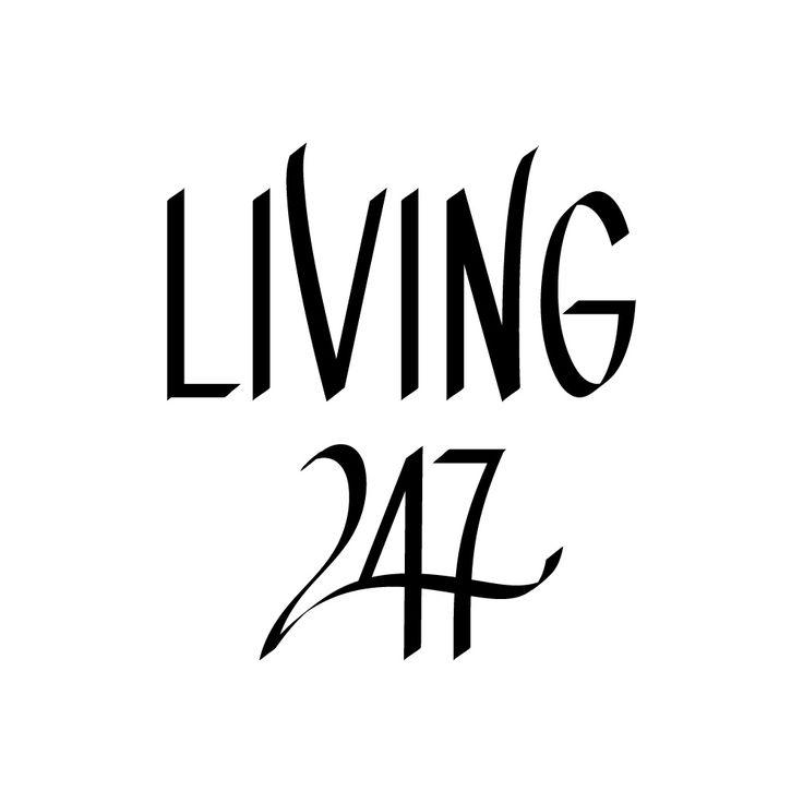 Logo design for Living 24/7 by Annika Välimäki Creative