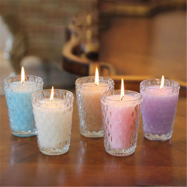 Aromathorapy Decorative Candles Glass Cup Znicz Scented Candle Yankee Wax Gift Candles Making Home Decor Kerzenleuchter Ddz33