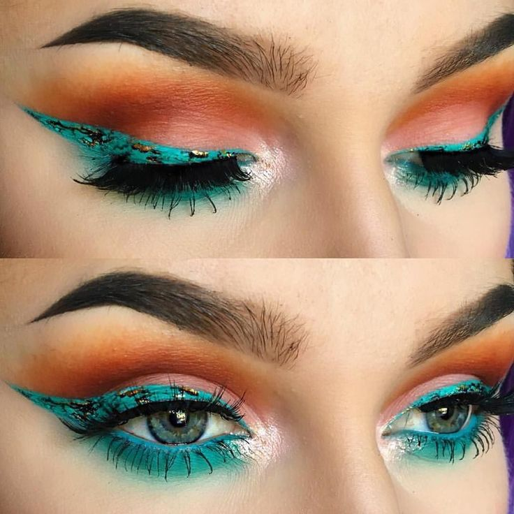 "suvabeauty | TURQUOISE from our Cupcakes and Monsters palette (SUGAR DIET ) TURQUOISE Eye Liner by @suvabeauty (SEA NYMPH) "" $49.95 for 8 Shades $10.99 for Single Shades  Stunning makeup by @alyssamarieartistry! Thanks for choosing SUVA for this look babe  #suvabeauty#cupcakesandmonsters"