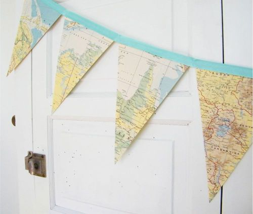 map bunting for nursery?