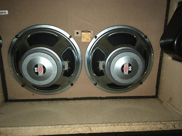 Here are two 12-inch Celestion 70/80 guitar speakers I pulled from my Marshall MX 2x12 cabinet. I recently acquired better speakers and I do not need these. They have low miles but haven't been fully broken in. Each speaker is rated at 16ohms. I'll be using the money I get for these speakers to fund a wedding present for my older brother and his fiancé (I'm the best man). Please feel free to make an offer.