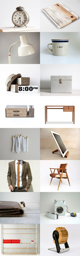 Retro office for him by Ginger Zoo and Co. on Etsy--Pinned with TreasuryPin.com