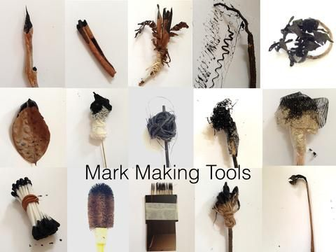 Mark making tools from nature & everyday objects~The Visionary ART Workshop