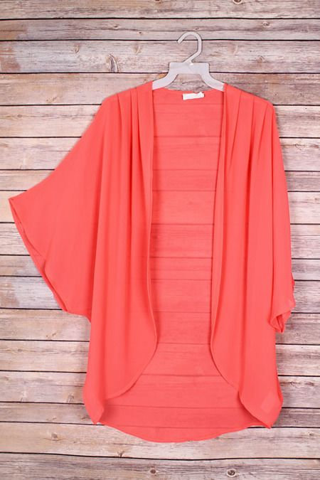 Coral Short Sleeve Cardigan