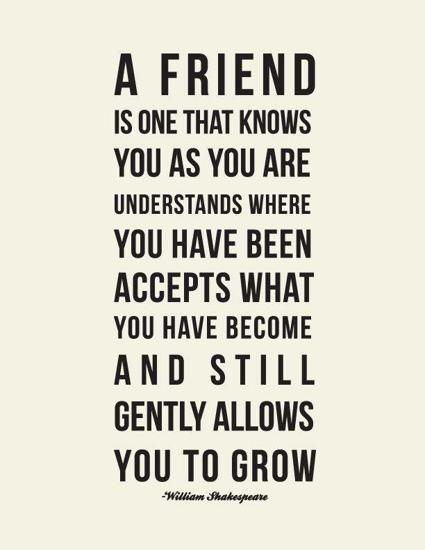 Shakespeare Friendship Quote // Best Friend Gift // by LADYBIRDINK
