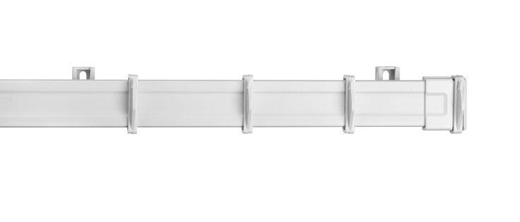 Colours White Fixed Length Curtain Track (L)270cm | Departments | DIY at B&Q