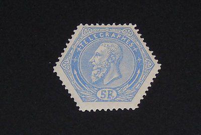 Stamp Pickers Belgium 1870's King Leopold 5fr Telegraph Stamp MNH