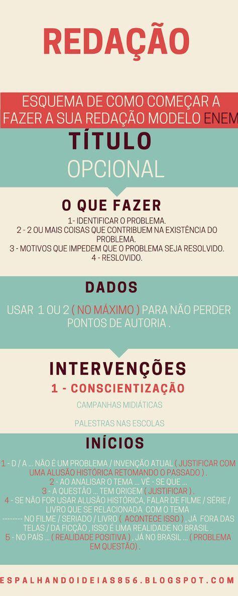 Pin De Pedro Coelho Em Estudo Estudos Para O Enem Redacao Enem