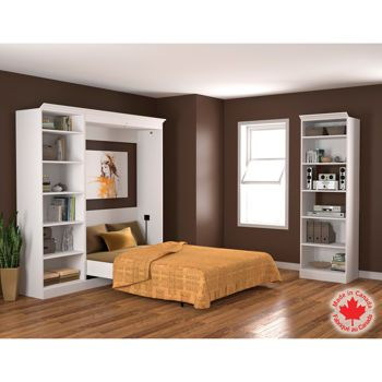 Bestar studio ensemble 3 pi ces lit 2 places for Lit escamotable costco