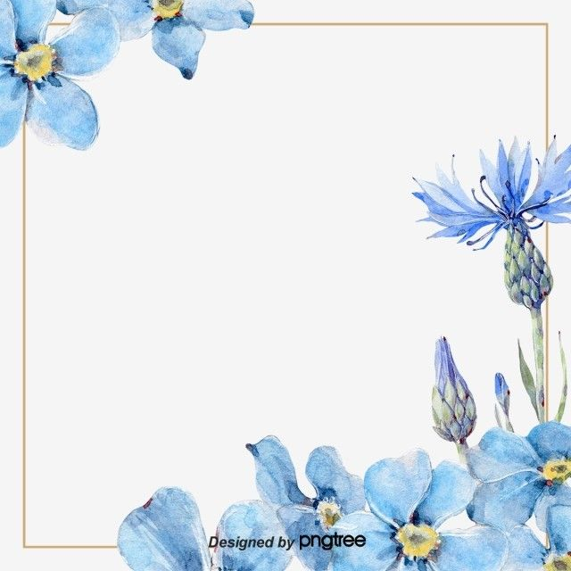 Hand Painted Blue Spring Flower Border Flower Border Clipart Border Flower Png Transparent Clipart Image And Psd File For Free Download Watercolor Flower Wreath Flower Border Clipart Blue Spring Flowers