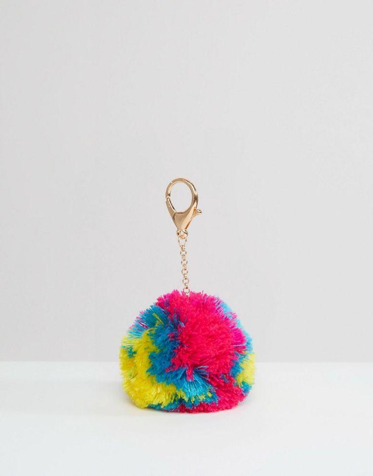Llavero con pompón arcoíris de ASOS