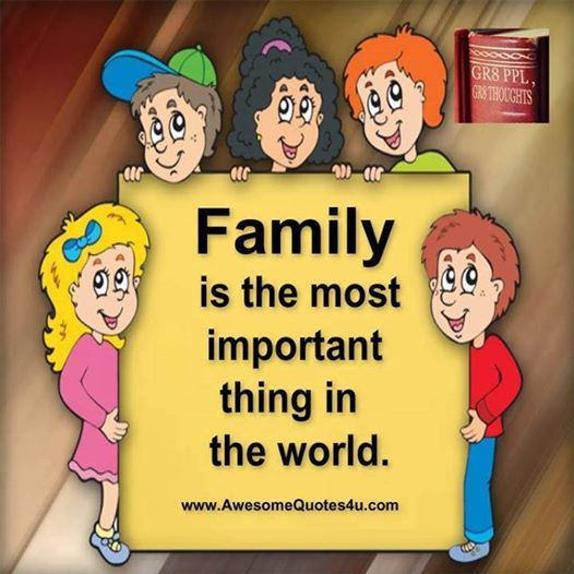 Family is most important