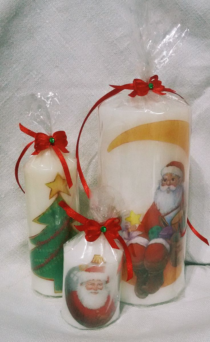 decorative Christmas candles by Rocreanique