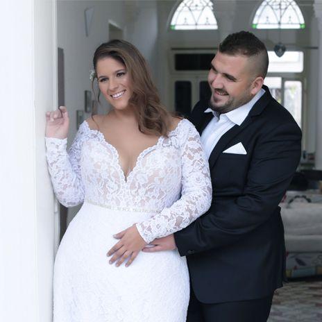 reut studio levana plus size wedding dress long sleeve lace wedding dress