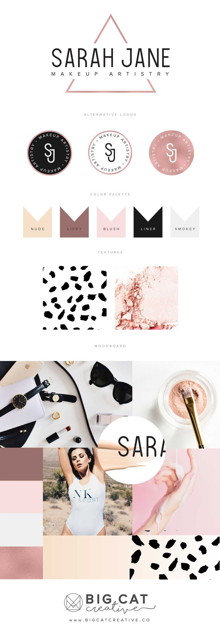 Color palete insto -I would like to introduce a light pink into the mix - love black, white, some sort of nude, copper, and fair pink.