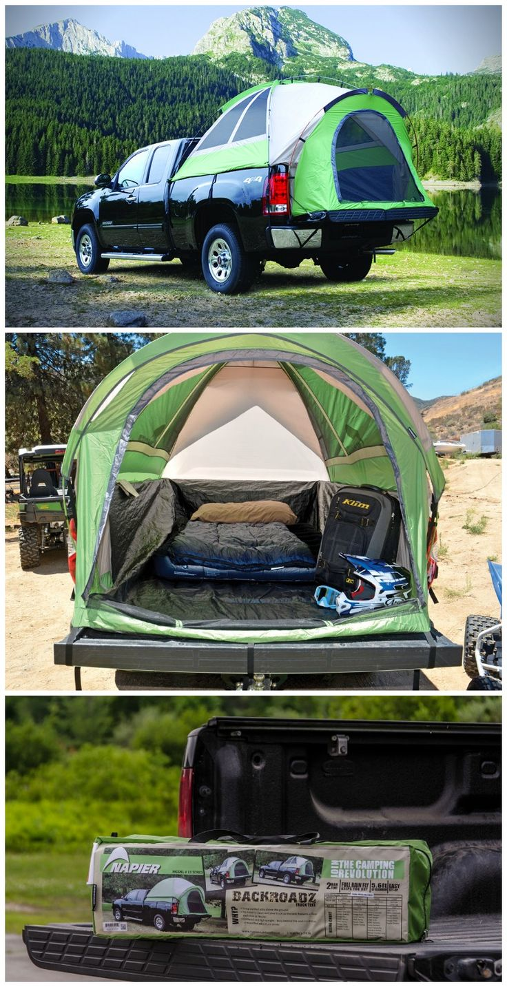 The Backroadz SUV tent takes camping to a whole new level -- right in the back of your open-bed pickup truck or connected to your SUV! #affiliate