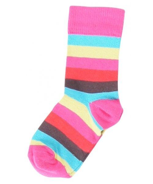 Maxomorra stribede pige sokker. Stribede sokker fra Maxomorra. 70% økologisk bomuld og 30% elastan.