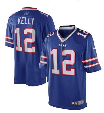 Buffalo Bills #12 Jim Kelly Nike NFL Royal Blue Stitched Home Limited Jersey