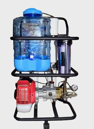 Portable Sea Water RO System  This Unique Sea water RO System has no need of electricity which is specially designed for small boats, fishing Boats, camping and ice lands. It converts direct sea water into sweet drinkable water