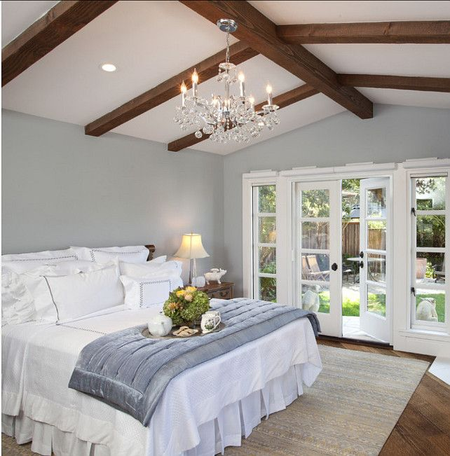 exposed roof beams in 15 bedroom designs - Bedroom Ceiling Color Ideas